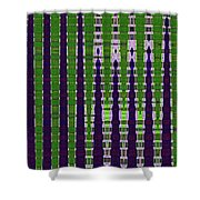 Power Tower And Agave Abstract Shower Curtain
