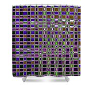 Power Tower And Agave Checkerboard Abstract Shower Curtain
