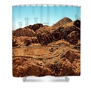 Power Transport From Hoover Dam Shower Curtain