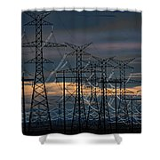 Power Web Shower Curtain