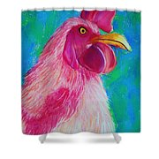 Powerful In Pink Shower Curtain