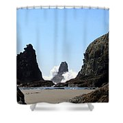 Powerful Sea Shower Curtain
