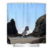 Powerful Sea Shower Curtain