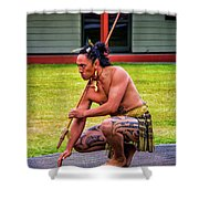 Powhiri 2 Shower Curtain