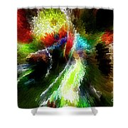 Powwow Dancer Abstract Shower Curtain
