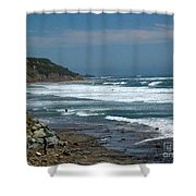 pr 121 - Lone Windsurfer Shower Curtain