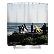 pr 129 - Santa Cruz Surfers Shower Curtain