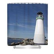 pr 191 The Harbor Lighthouse Shower Curtain