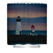 pr 203 - Evening Light Shower Curtain