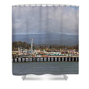 pr 205- The Boardwalk At Santa Cruz Shower Curtain