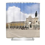 Praca Do Comercio, The Square Of Commerce Shower Curtain