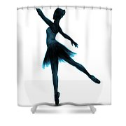 Practice Makes Perfect - Blue Shower Curtain