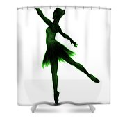 Practice Makes Perfect - Green Shower Curtain