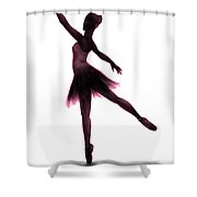 Practice Makes Perfect - Pink Shower Curtain