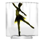 Practice Makes Perfect - Yellow Shower Curtain
