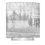 Practice Round At Pebble Beach Shower Curtain