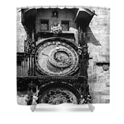 Prague Astronomical Clock 1410 Shower Curtain
