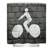 Prague Bike Lane-  By Linda Woods Shower Curtain