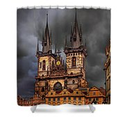 Prague Cathedral Shower Curtain