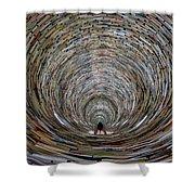 Prague Library Book Tower Shower Curtain