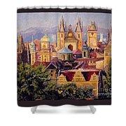 Prague. Roofs. Shower Curtain