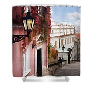 Prague Stairs Shower Curtain