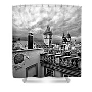 Prague View From The Top Shower Curtain