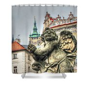 Praha Church Shower Curtain