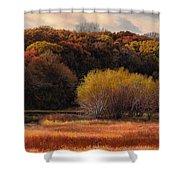 Prairie Autumn Stream Shower Curtain