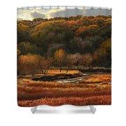 Prairie Autumn Stream No.2 Shower Curtain