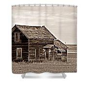 Prairie Home Sepia Shower Curtain