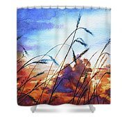 Prairie Sky Shower Curtain by Hanne Lore Koehler