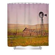 Prairie Windmill Shower Curtain