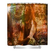 Praise Him With The Harp II Shower Curtain