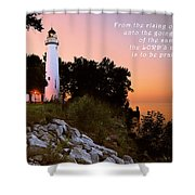 Praise His Name Psalm 113 Shower Curtain by Michael Peychich