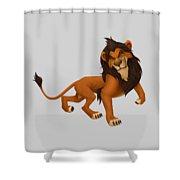 Prancing Lion Shower Curtain