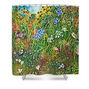 Prarie IIi Shower Curtain by Helen Klebesadel