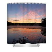 Prat Pond Morning Shower Curtain