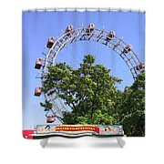 The Riesenrad Shower Curtain