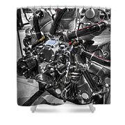 Pratt And Whitney  Engine Aeronautics Shower Curtain