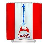 For Paris Shower Curtain