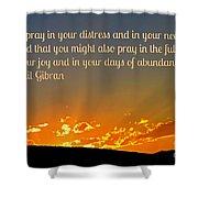Pray Abundantly Shower Curtain