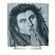 Pray For Peace Shower Curtain