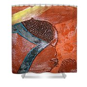 Prayer 17 - Tile Shower Curtain