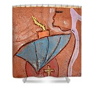 Prayer 25 - Tile Shower Curtain