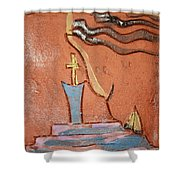 Prayer 34 - Tile Shower Curtain