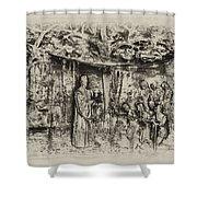 Prayer Meeting At Jamestown Shower Curtain