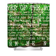 Prayer Of The Woods 2.0 Shower Curtain