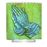Prayer 3 Shower Curtain