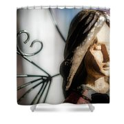 Prayerful Angel Shower Curtain